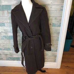 Mackage wool/ leather coat size L(8-10)